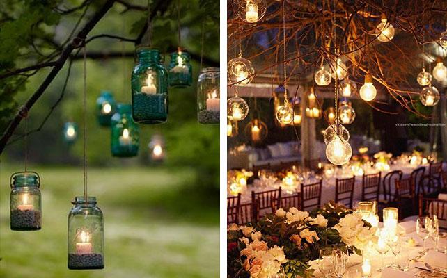 свечи в свадебном декоре