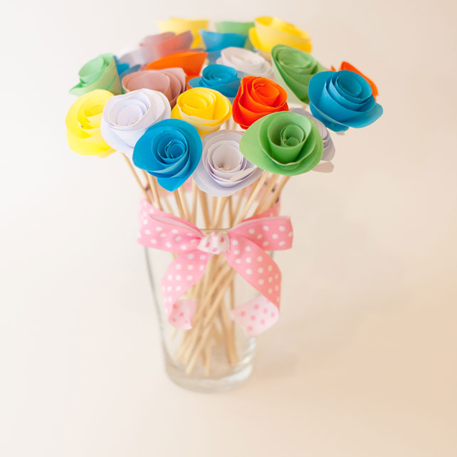 Букет бумажных роз как сделать