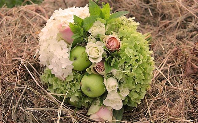 осенняя свадьба, яркий букет