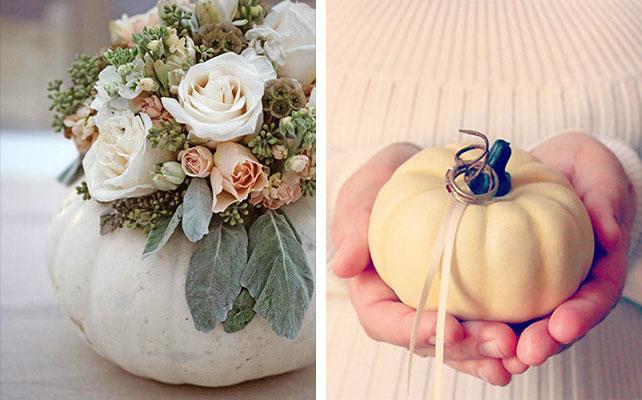 осенняя свадьба, тыква в декоре