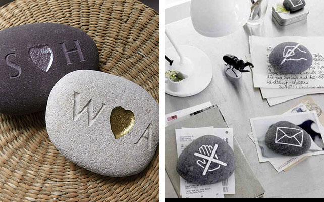осенняя свадьба, камни в декоре