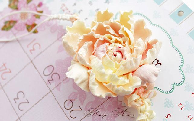 Свадебные аксессуары из полимерной глины: плюсы и минусы, букет из полимерной глины от Кати Когут