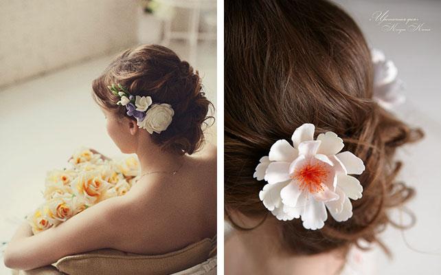 Свадебные аксессуары из полимерной глины: плюсы и минусы, украшение для волос из полимерной глины от Кати Когут