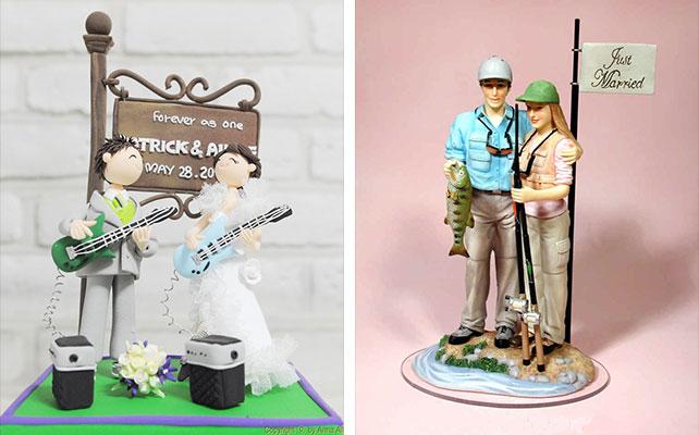 Как сделать жениха и невесту для торта 47