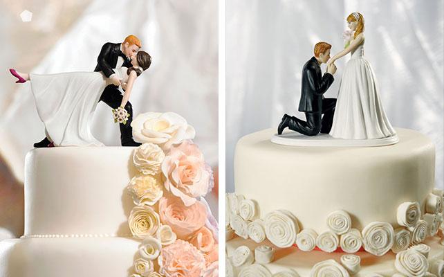 Фигурки жениха и невесты на торт