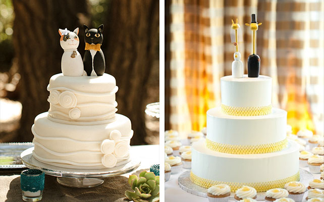 Торты с фигурками свадебные