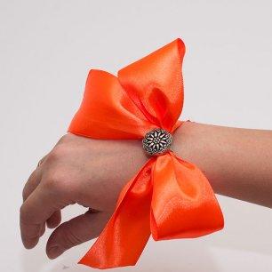 Как сделать браслеты подружкам невесты из атласных лент