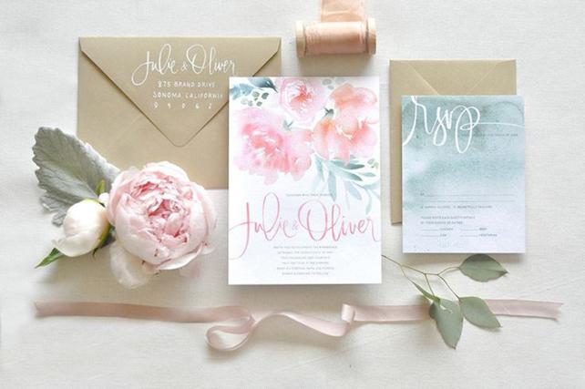 Свадебная открытка на тушкан