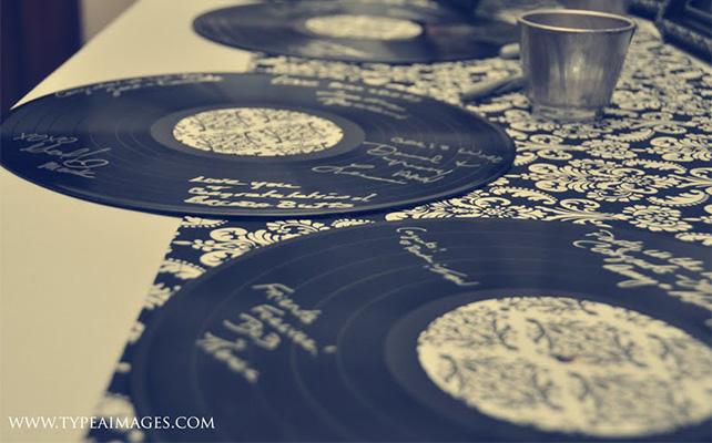 Виниловые пластинки - альтернатива книге пожеланий