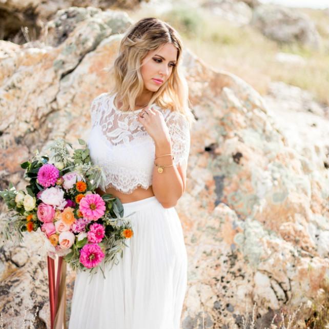 Платье кроп топ на свадьбу