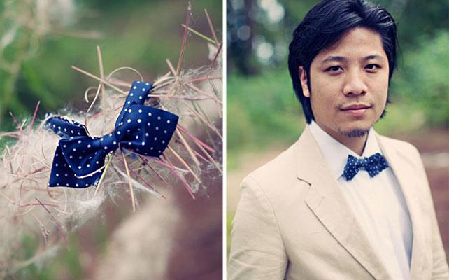 Галстук-бабочка в цвет свадьбы