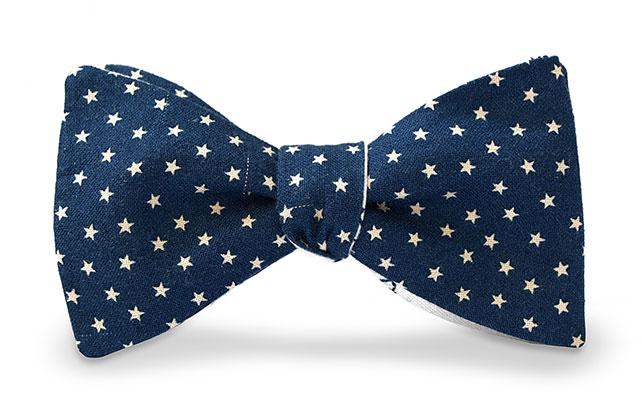 Галстук-бабочка для ночной свадьбы со звездами