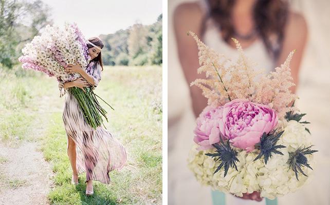 Большой букет - тренд свадебной моды
