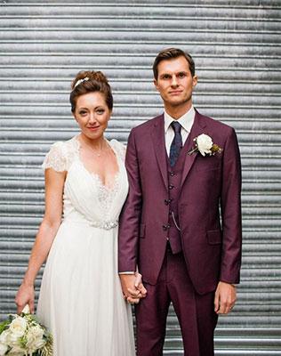 Цвет свадьбы бордовый