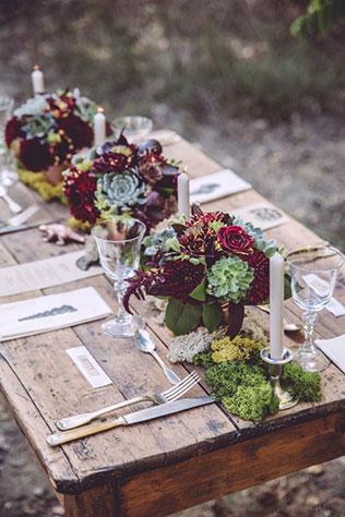 цвет свадьбы 2015, бордовая свадьба