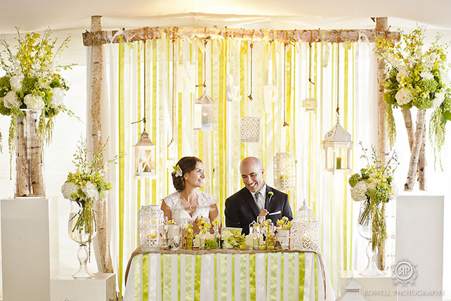 Как оформить зону молодых на свадьбе 19