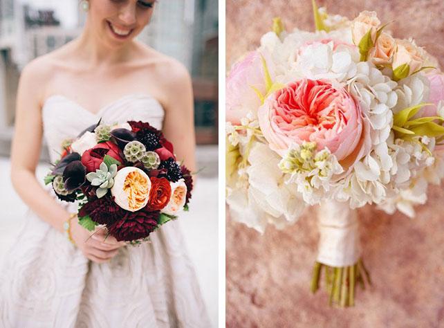 Пионовидная роза букет невесты
