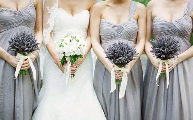 Свадебные букеты с лавандой