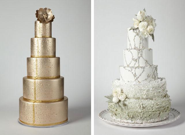 Свадебный торт золотого цвета