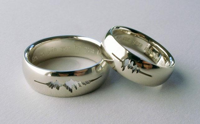 Гравировка обручальные кольца