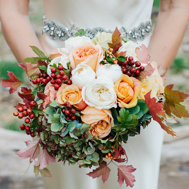 осенний букет невесты фото
