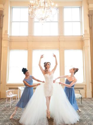 Осенний образ невесты, платье-трансформер