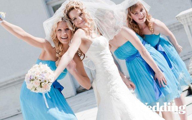 Платье подружек невесты сшитое в ателье