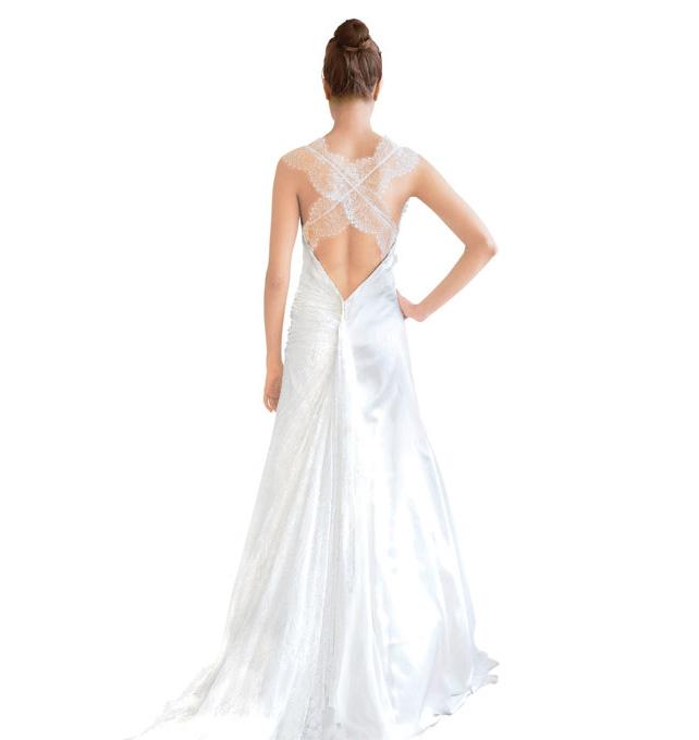 Тренды 2014: свадебные платья, платья с перекрещенными бретелями