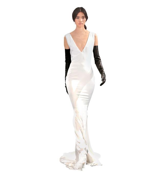 Тренды 2014: Свадебные платья, изысканные и гладкие