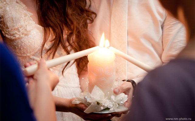 Очаг любви на свадьбе