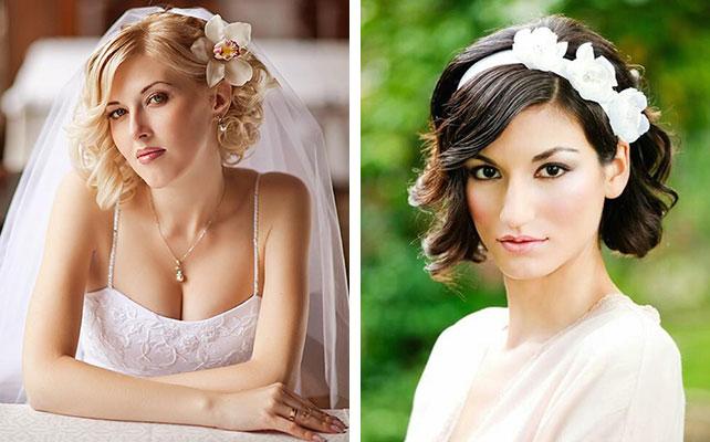 свадебные прически 2016 на короткие волосы фото