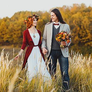 фото осенняя свадьба