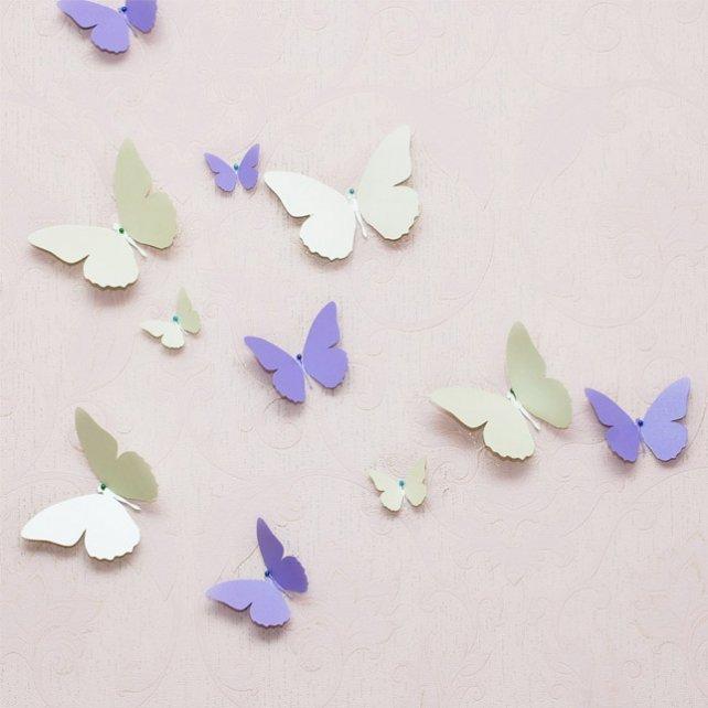 Как сделать бабочек для декора комнаты