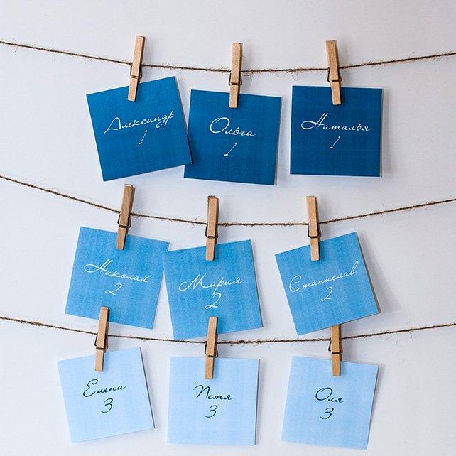 Как самому сделать карточки для рассадки гостей