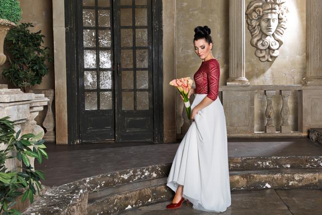 Марсала свадебное платье