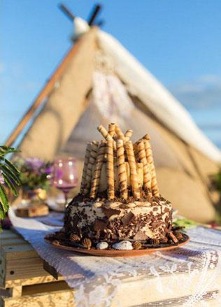 Свадебные торты в стиле бохо фото 1