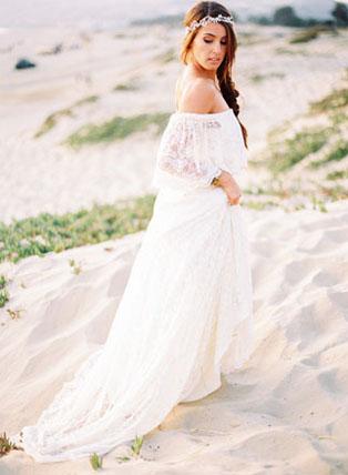 Легкие свадебные платья для моря платья