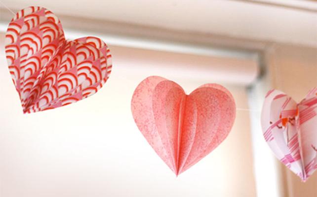 Украшения из бумаги своими руками на день валентина