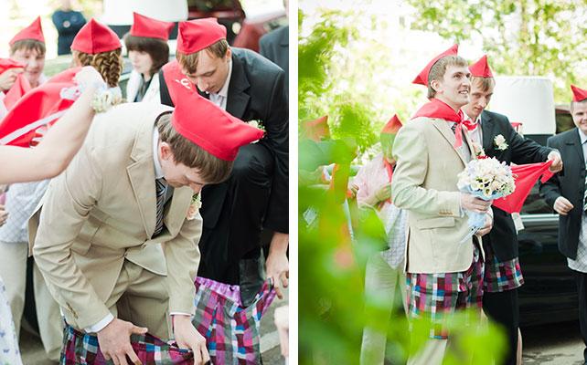 Невеста дает всем свою пилотку на свадьбе фото 703-218