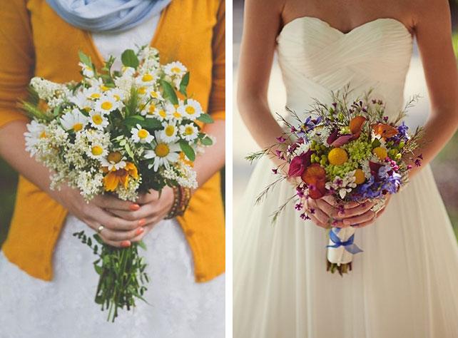 Свадебный букет невесты из полевых цветов 50