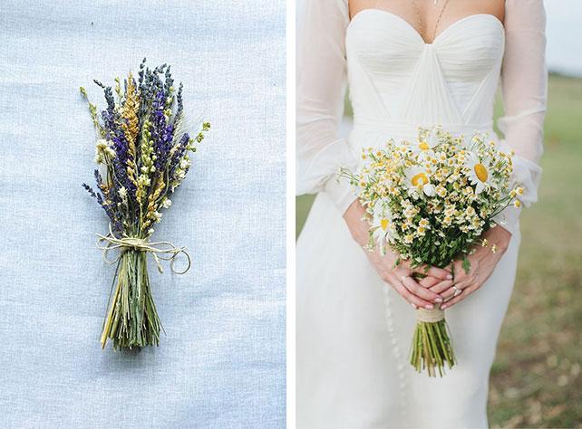 Свадебный букет невесты из полевых цветов 2
