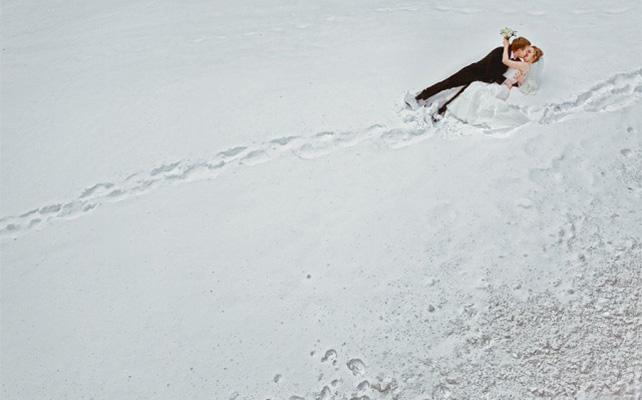 креатив на зимней свадьбе