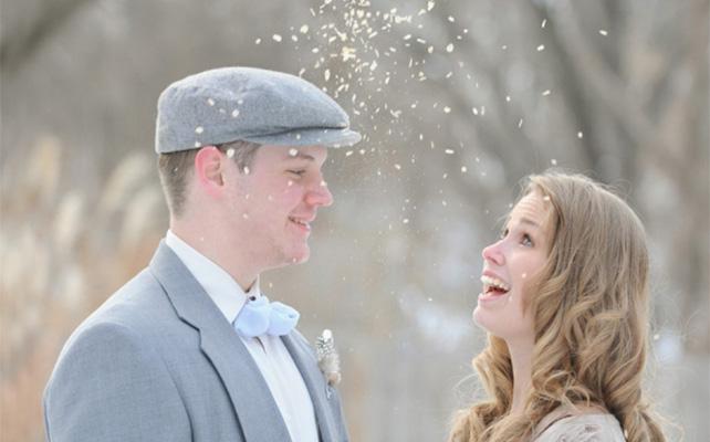 Зимнее веселье на свадьбе