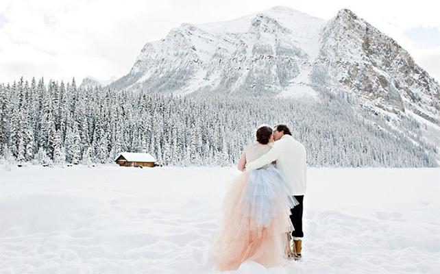 Зимняя романтика на свадьбе