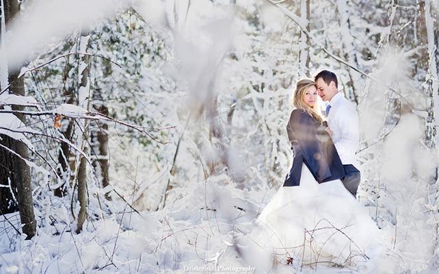 Зимняя сказка на свадьбе