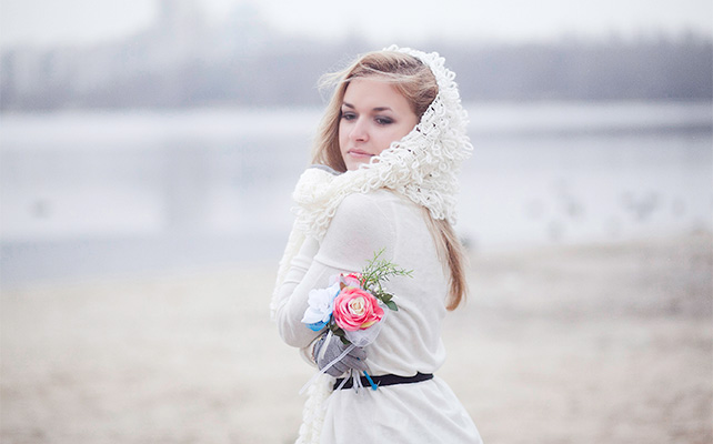 Зимняя фотосессия на свадьбе