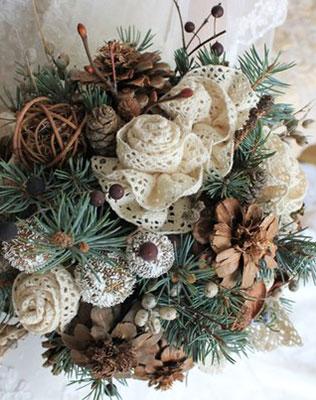 Зимние букеты цветов для невесты фото — img 5