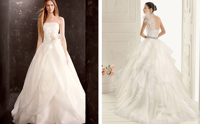 Свадебное платье с корсетом, открытые плечи