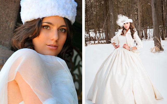 Головной убор для невесты на зимней свадьбы