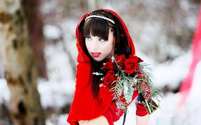 Капюшон для невесты на зимней свадьбы